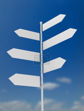 Signpost outside