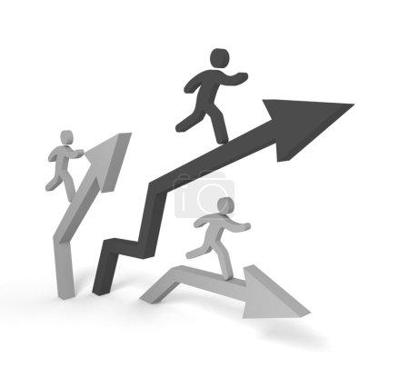 Acute arrow,business growth