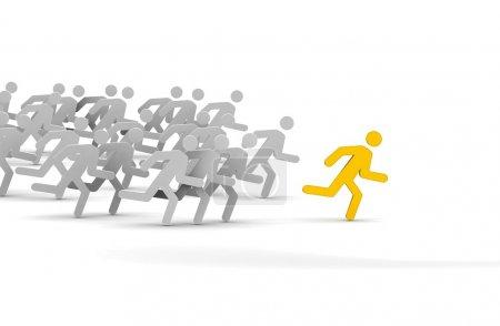 Photo pour Leader de la compétition. Concept. Illustration 3d . - image libre de droit