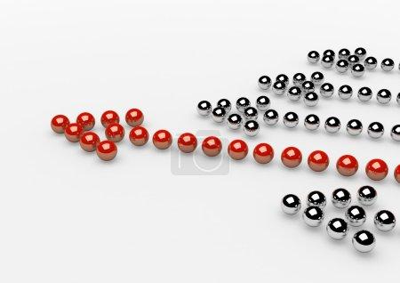 Photo pour Des flèches de balles. Chef. Concept. Illustration 3d . - image libre de droit