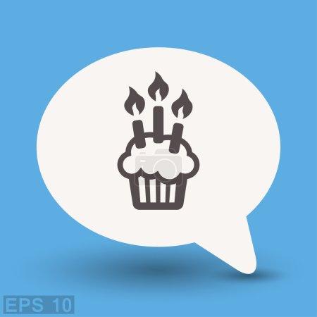Illustration pour Pictogramme de l'icône du gâteau. Illustration vectorielle de concept pour le design. Eps 10 - image libre de droit