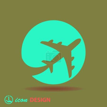 Illustration pour Icône de l'avion. illustration vectorielle - image libre de droit