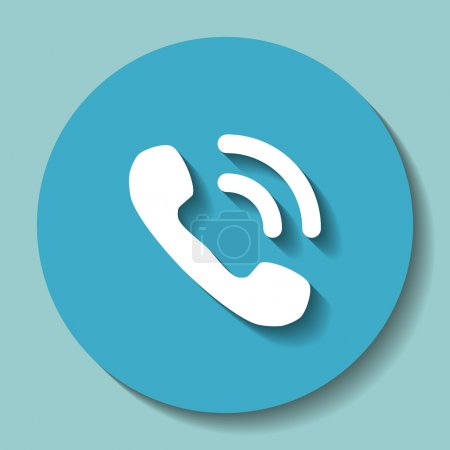 Illustration for Phone icon. vector illustration - Royalty Free Image