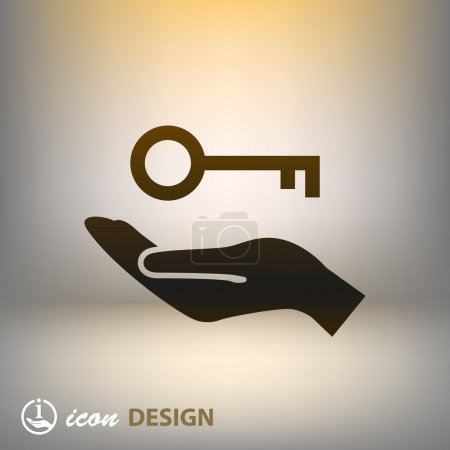 Key in hand icon