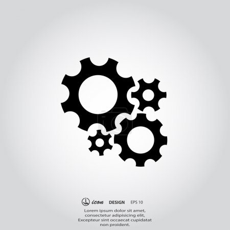 Illustration for Pictograph of gear. vector illustration - Royalty Free Image