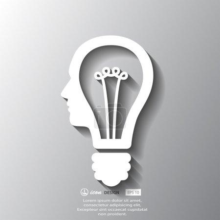 Bulb in head icon