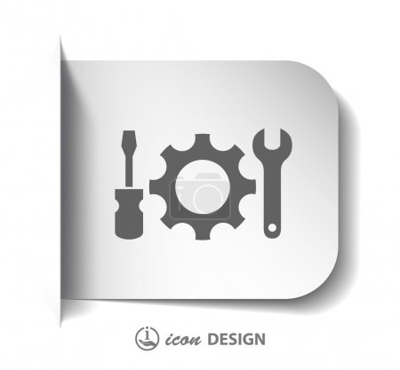 Photo for Pictograph of tools. Vector illustration - Royalty Free Image