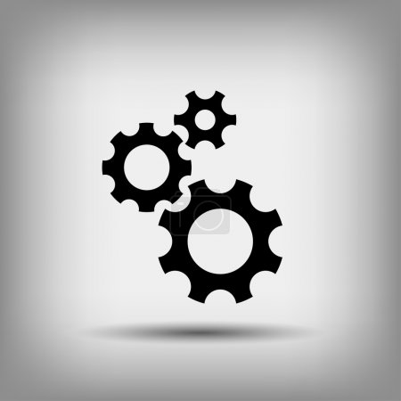 Illustration for Pictograph of gear wheels. vector icon - Royalty Free Image