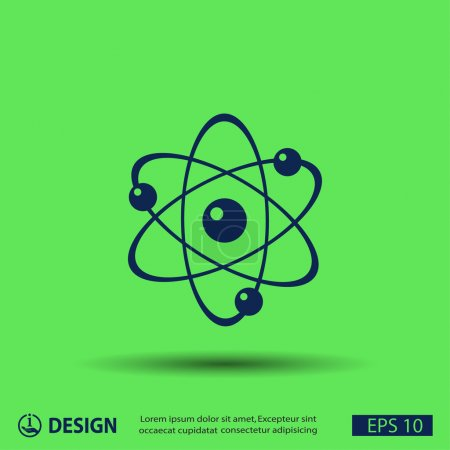 Illustration for Simple pictograph of atom icon - Royalty Free Image