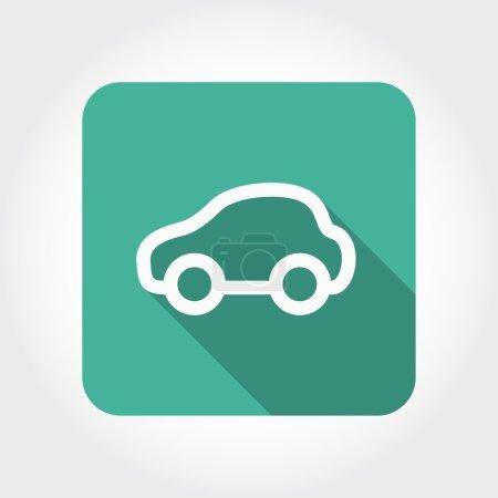 Illustration pour Pictogramme de l'icône de la voiture illustration - image libre de droit