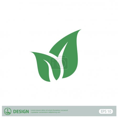 Illustration for Pictograph of leaves, eco icon - Royalty Free Image