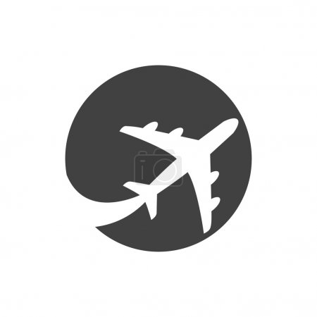 Illustration for Pictograph of airplane icon illustration - Royalty Free Image