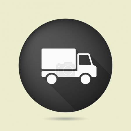 Illustration for Pictograph of truck icon illustration - Royalty Free Image