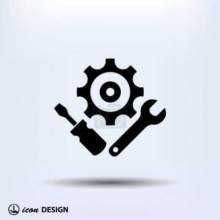 Illustration for Pictograph of industrial  gears icon - Royalty Free Image