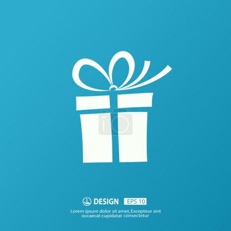 Illustration pour Pictogramme de boîte cadeau vectoriel avec arc - image libre de droit