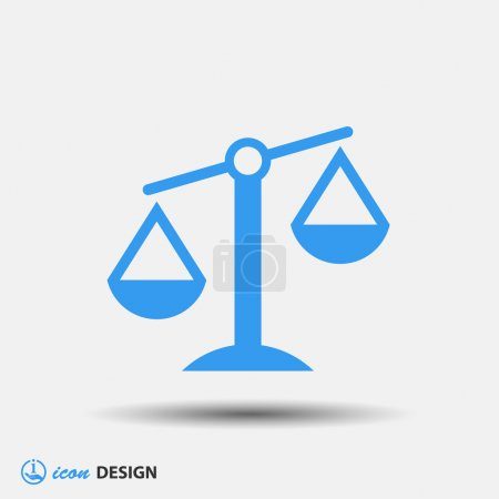 Illustration for Pictograph of justice scales icon - Royalty Free Image