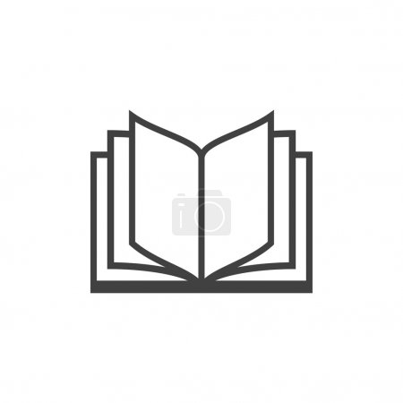 Illustration for Pictograph of open book icon - Royalty Free Image