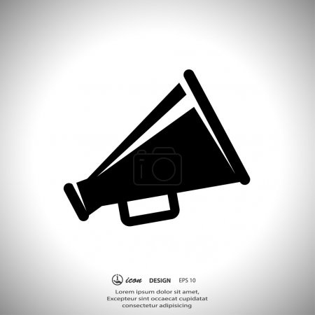 Pictograph of megaphone speaker
