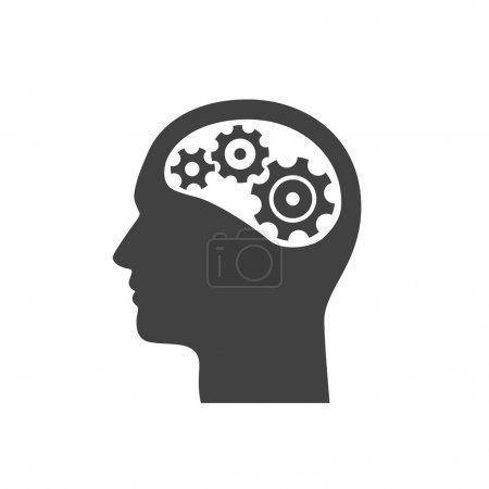 Pictograph of gears in head