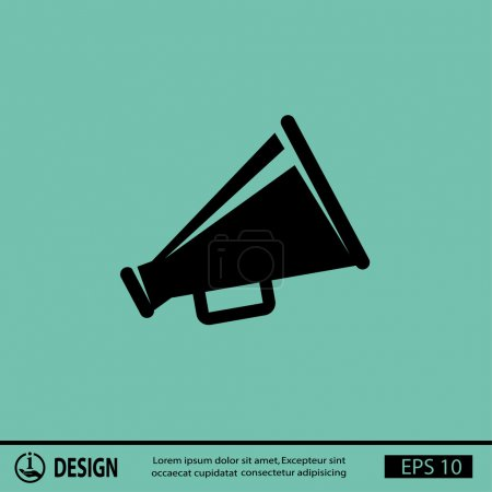 Illustration for Pictograph of megaphone speaker. vector icon - Royalty Free Image