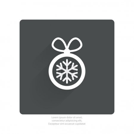 Pictograph of christmas ball