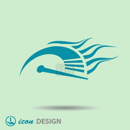 Illustration pour Pictogramme de l'icône de l'indicateur de vitesse illustration - image libre de droit