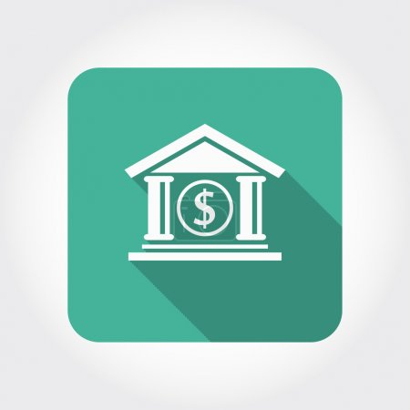 Pictograph of bank icon