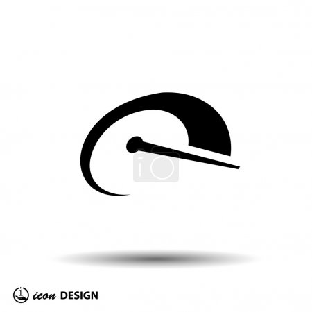 Illustration for Pictograph of speedometer icon illustration - Royalty Free Image
