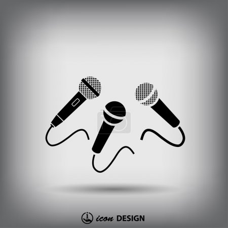 Microphones icon  illustration