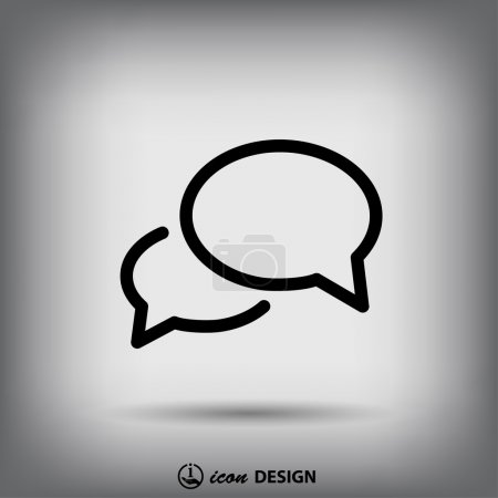Illustration for Pictograph of message or chat icon illustration - Royalty Free Image