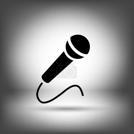 Microphone icon iilustration