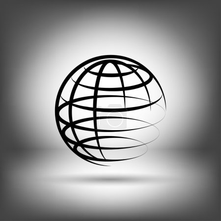 Illustration for Pictograph of globe vector icon - Royalty Free Image