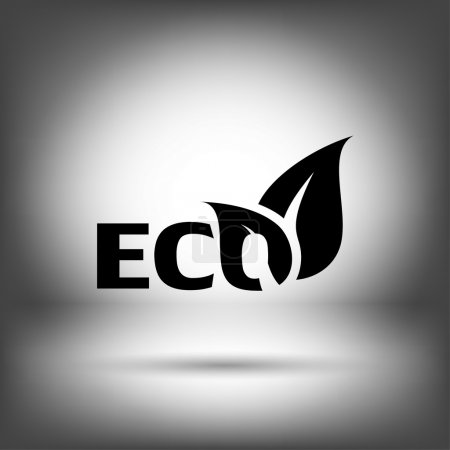 Illustration for Pictograph of eco vector icon - Royalty Free Image