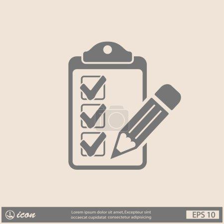 Pictograph of checklist icon