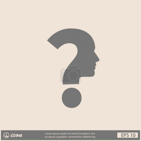 Illustration for Pictograph of question mark and man icon illustration - Royalty Free Image