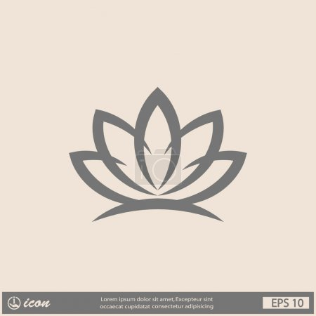 Illustration for Pictograph of lotus vector icon - Royalty Free Image