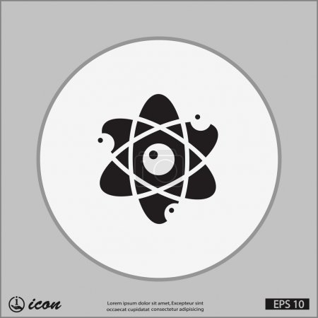 Illustration for Pictograph of atom icon illustration - Royalty Free Image