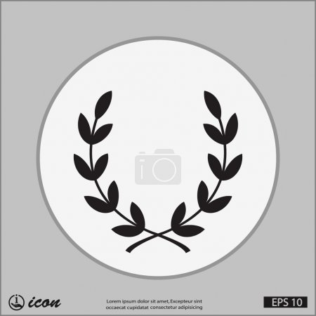 Pictograph of laurel wreath