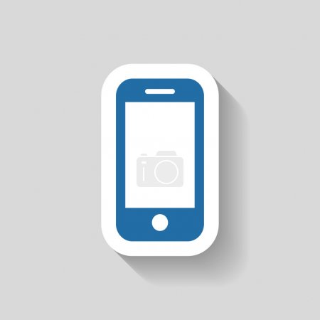 Illustration for Pictograph of mobile icon illustration - Royalty Free Image
