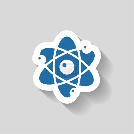 Illustration pour Pictogramme de l'icône de l'atome illustration - image libre de droit