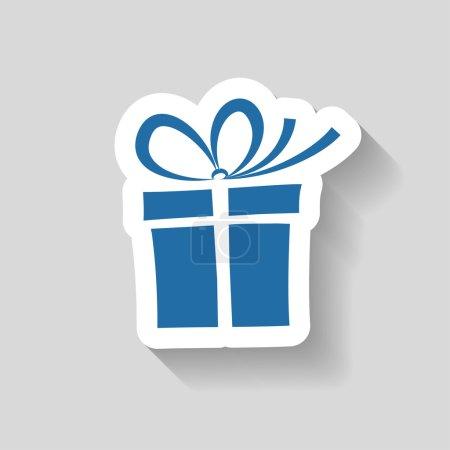 Illustration pour Pictogramme de l'icône vectorielle boîte cadeau - image libre de droit