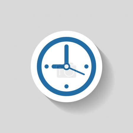 Illustration for Pictograph of  clock icon illustration - Royalty Free Image