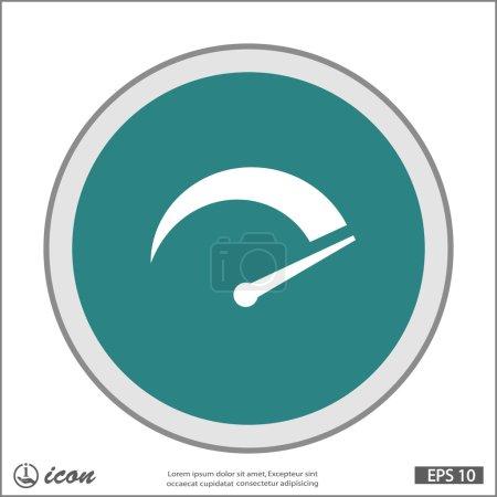 Illustration pour Vecteur Pictogramme de l'icône du compteur de vitesse - image libre de droit