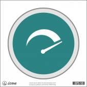Vector Pictograph of speedometer icon