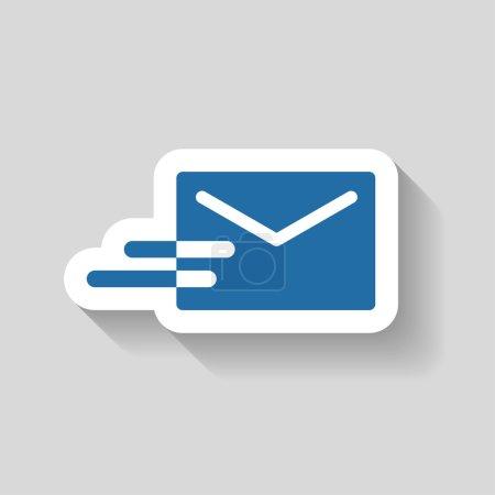 Illustration pour Pictogramme d'icône de vecteur de courrier - image libre de droit