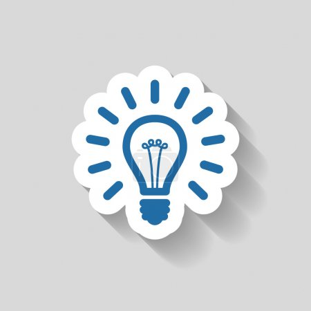 Pictograph of light bulb icon