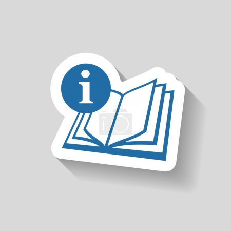 Pictograph of book icon illustration...