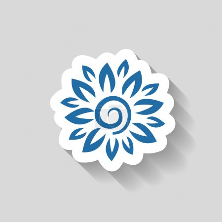 Illustration for Pictograph of flower icon illustration - Royalty Free Image