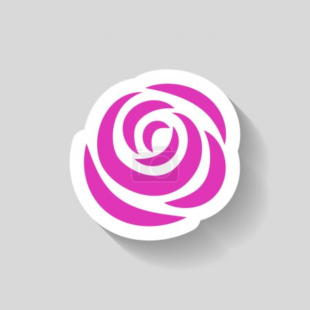 Illustration for Pictograph of rose vector icon - Royalty Free Image