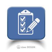 Pictograph of checklist vector icon